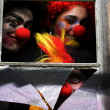 Dark Carnival Clowns - Stock Photo