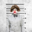 Clown Mug Shot - Stock Photo