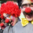Crazy Circus Clowns — Stock Photo
