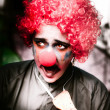Ms Frightened The Scared Clown — Stock Photo #10037390