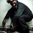Mr Squatter The Unemployed Clown — Stock Photo
