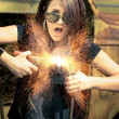 Stock Photo: Electric Shock