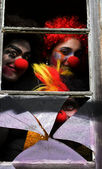 Dark Carnival Clowns — Stock Photo