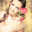 Romantic Rose Woman — Stock Photo #10062131