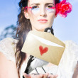 Love Note Delivery From The Heart — Stock Photo