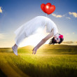 Carried Away By Love And Happiness - Stock Photo