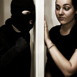 Masked Intruder — Stock Photo