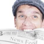 feed de noticias — Foto de Stock