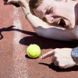 Tennis Player Tantrum - Stock Photo