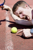 Tennis Player Tantrum — Stock Photo