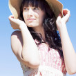 Gorgeous Woman In Hat — Stock Photo