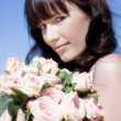 Woman In A Rose Romance — Stock Photo