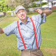 Golf Temper Tantrum — Stock Photo