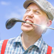 Stock Photo: Golfing Mad
