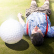 Stock Photo: Golfer Didnt See That One Coming