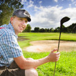 Royalty-Free Stock Photo: Happy Golf Player