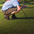 Stock Photo: Golf Score Card Cheat