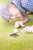 Crazy Golfer — Stock Photo