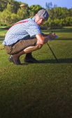 Golf Score Card Cheat — Stock Photo