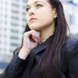 Stock Photo: Young Business WomWith Grand Business Ideas