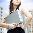 Business Woman With Dreams Aspirations And Goals - Stock Photo