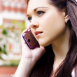 Beautiful Business Woman On Smart Mobile Phone - Stockfoto