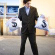 Business Man Looking For Financial Planning Help — Stock Photo