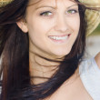 Country Woman In Cowgirl Hat — Stockfoto