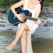 Stockfoto: Guitar Woman