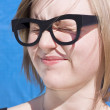 Stock Photo: Vision Impaired Woman