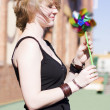 Stock Photo: Twirling Toy Turbine