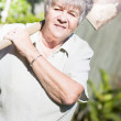 Gardening Grandmother — Stock Photo