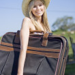 Summertime Travelling Tourist — Foto Stock