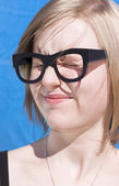 Vision Impaired Woman — Stock Photo