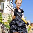 Armed And Dangerous Gardener — Stock Photo