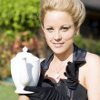 High Tea Woman - Stock Photo