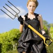 Foto Stock: Killing Weeds With Killer Style