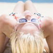 Summer Sun Beach Bather — Foto de Stock