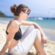 Resting Beach Babe - Stock Photo