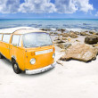 Stock Photo: Surf Van