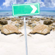 Beach Sign - Stock Photo