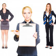 Career Recruitment Business Woman With Job Offer — Stock Photo