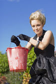 Lizas Leaking Bucket — Stock Photo