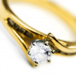 Sparkling Diamond Engagement Ring — Stockfoto