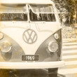 1969 Vintage Van - Stock Photo