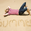 Man Of Summer - Stock Photo