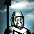 Medieval Knight Holding Weapon — Stock Photo #10317618