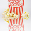 Stock Photo: Iconic Striped Popcorn Carton