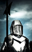 Medieval Knight Holding Weapon — Stock Photo