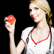 Stock Photo: Apple day keeps doctor away